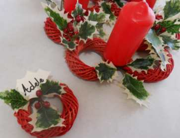 L 39 angolo creativo centrotavola natalizio e segnaposto - Centrotavola natalizio idee ...