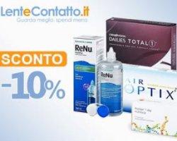 Super sconto 10% LenteContatto.it