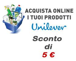 Iscriviti alla Newsletter di Unilever.shop per te €5 di sconto sui prodotti per la casa e per l' igiene della persona