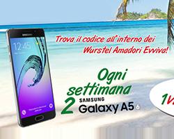 Vinci Galaxy A5 con Evviva l'Estate Amadori