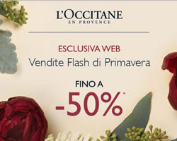 L'Occitane: Offerte Flash di primavera!
