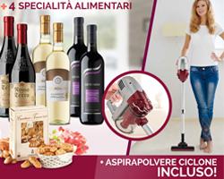 10 Vini Pregiati + 4 specialità gastronimiche + OMAGGIO