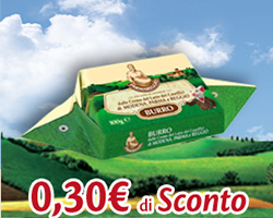 Buono sconto da 0,30€ su Burro Parmareggio