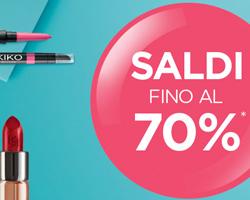 Saldi fino al 70% sui prodotti KIKO!
