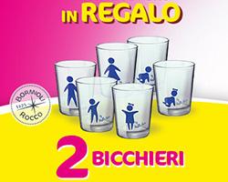 Bicchieri Bormioli omaggio con acqua Nestlé Vera