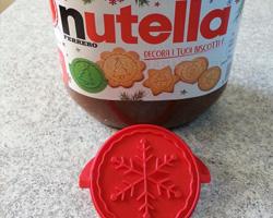 Stampini biscotti natalizi Omaggio con Nutella