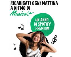 Vinci Spotify Premium con Nestlè Fitness
