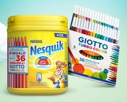 Nesquik: in regalo 36 pennarelli e vinci set dell'artista