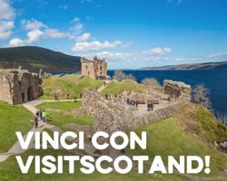 Vinci gratis un viaggio per 2 persone in Scozia