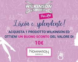 Wilkinson: ricevi in regalo buoni sconto Nomination