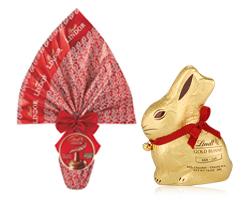 Lindt: vinci Gold Bunny 1Kg e Uovo Lindor 1,7Kg