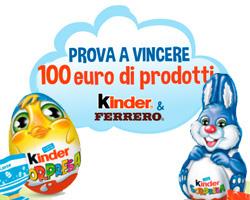 Giga Riffa di Pasqua 2018: vinci 100€ di prodotti Kinder e Ferrero