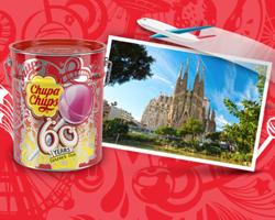 Chupa Chups: vinci latta da 150 pezzi e weekend a Barcellona
