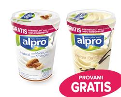 Alpro cashback: compra lo yogurt, 100% rimborsato