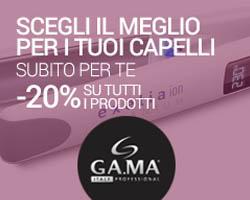 Codice sconto del 20% Gama Professional