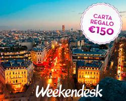 Vinci gratis gift card da 150 euro su Weekendesk