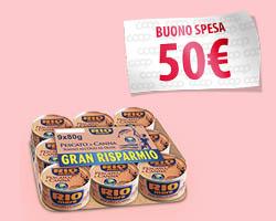 Vinci buoni spesa da 50 euro con Rio Mare