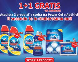 Finish regala Finish: acquista 2 prodotti, ne ricevi 1 gratis