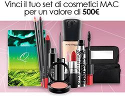Vinci gratis set di cosmetici MAC