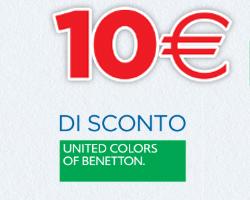 Giotto: buono Benetton 10 euro in regalo e vinci premi