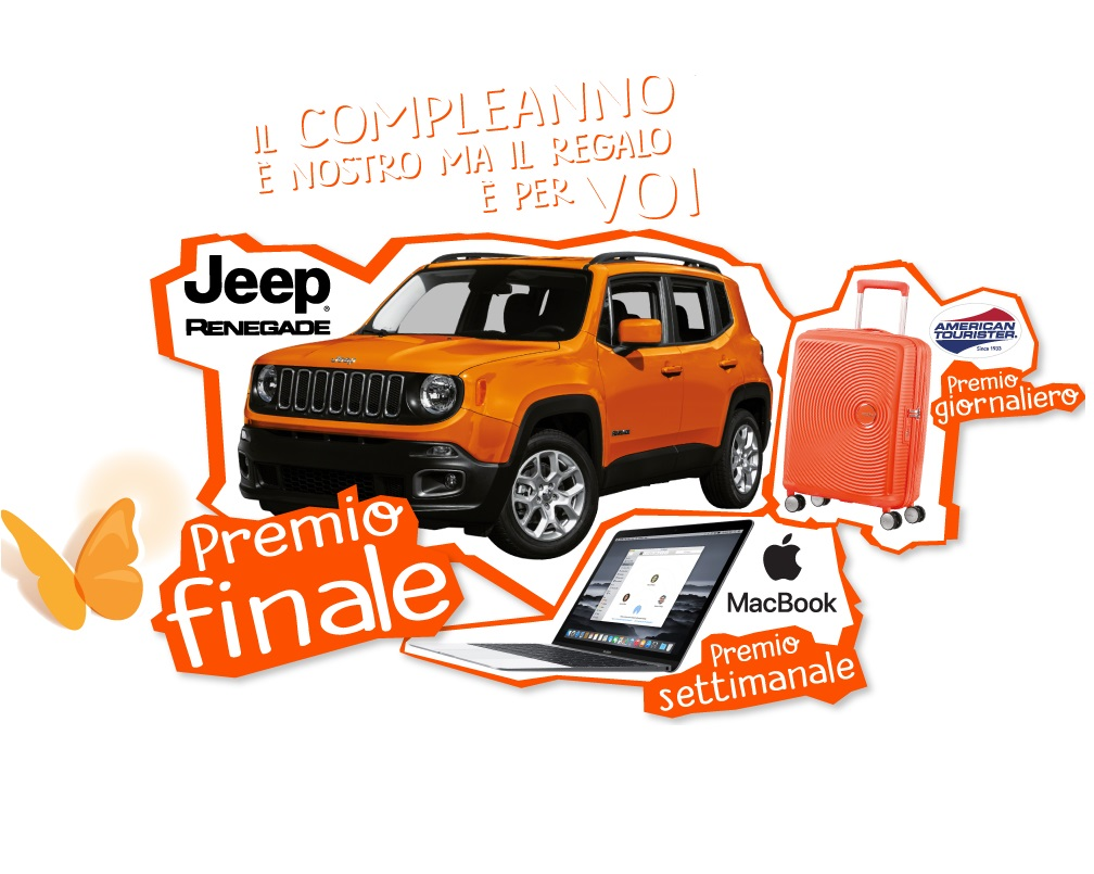 Vinci Jeep Renegade o un MacBook Apple con Zymil!