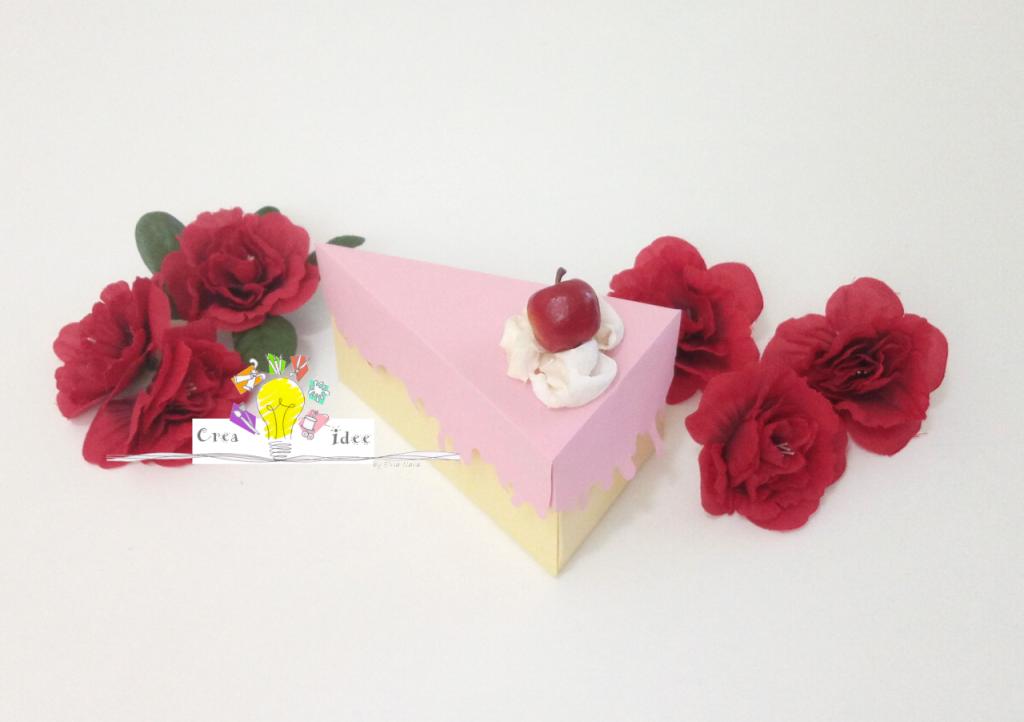 scatolina fetta di torta finita