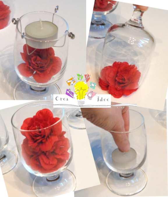 centrotavola fiori rossi 3a
