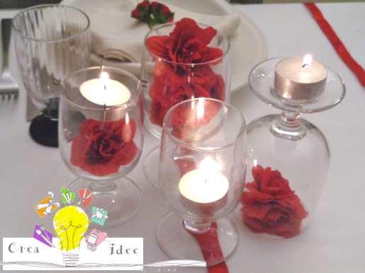 centrotavola fiori rossi finito