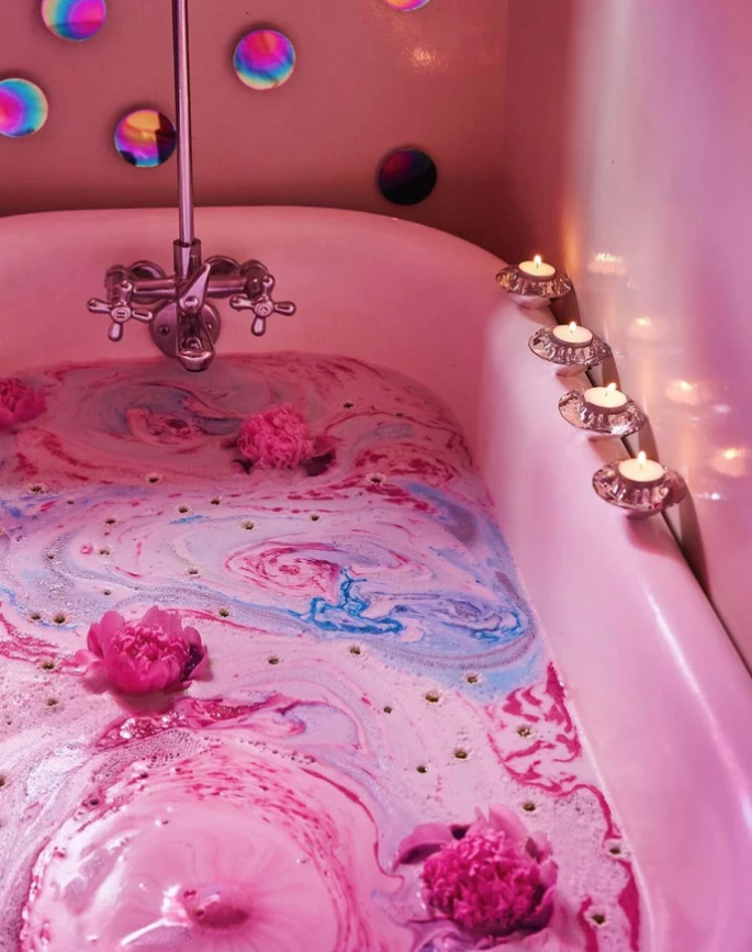 rilassarsi con le bath bombs