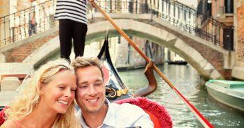 Selfie di coppia a Venezia